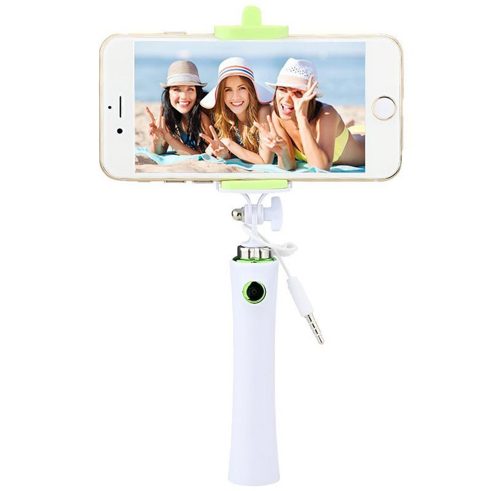 Selfie tyč - barvy zelená, modrá, růžová